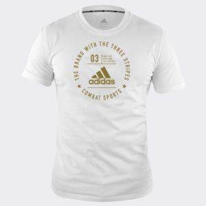 Tee Shirt adidas Combat Sports BLANC/OR
