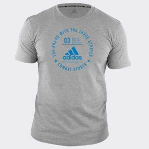 Tee Shirt adidas Combat Sports GRIS/SOLAR BLUE